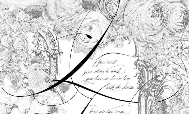 フォトショップ鉛筆画 デジタルイラスト Digital pencil drawing