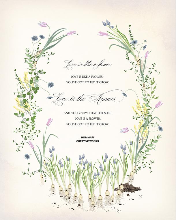 プチ・デザイナーコース 課題 「お花のメッセージカード アンティーク」